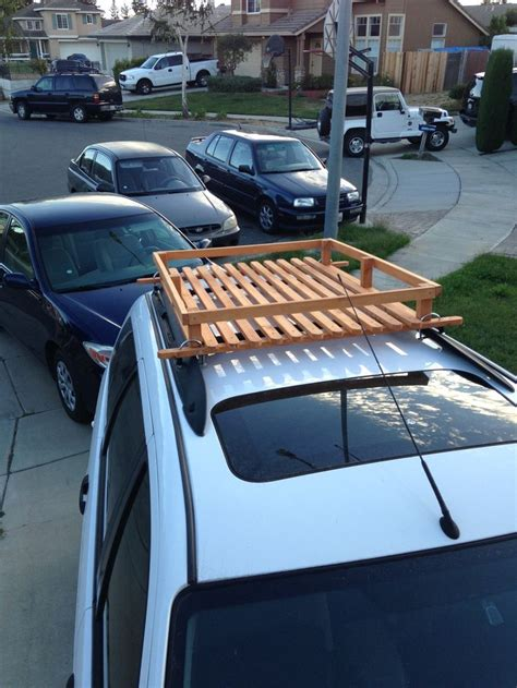 Design Your Own Transportable Home by Built This Wood Roof Rack For 50 Bucks Wooden Roof Rack