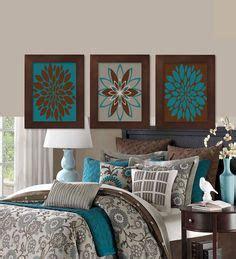 blooms of dahlia barbie bedroom decor wall art designs home decor wall art wall art teal brown