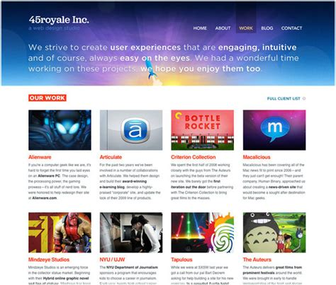 hybrid layout website exles 25 exles of web 2 0 and traditional design rules coming
