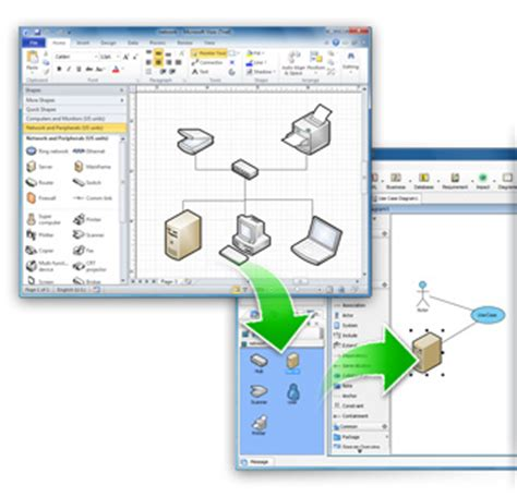 import visio stencils output uml diagrams as png jpg svg and more
