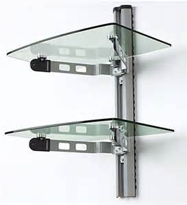 glass bookshelves wall mount wall mounted glass shelves a v component stand