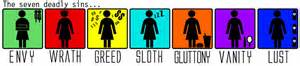 7 deadly sins colors seven deadly sins meaning