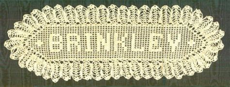 pattern for crochet name doilies filet crochet name patterns browse patterns