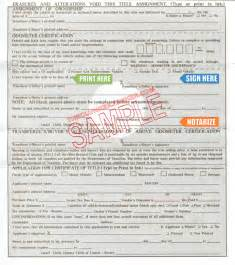 how to apply for a new car title for your car in ohio free same day the