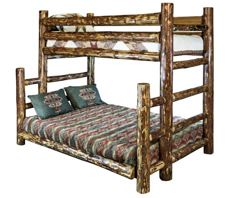 Log Bunk Beds by Glacier Country Log Bunk Beds