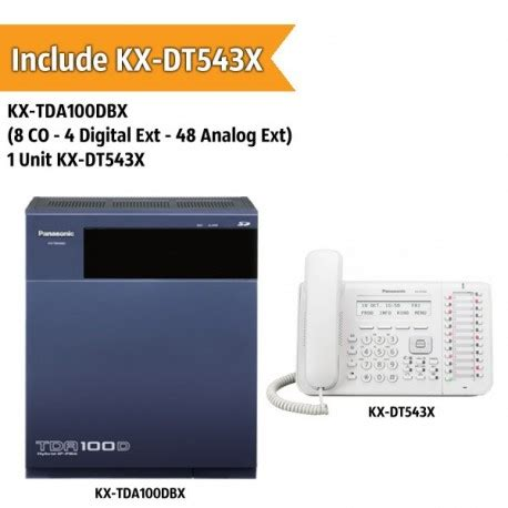 Pabx Panasonic 8 Ext by Panasonic Kx Tda100dbx Pabx System 8 Co 4 Digital