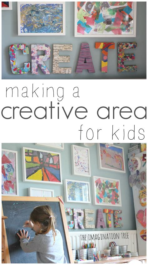 Ideas For A Small Living Room creative arts area and gallery for kids the imagination tree