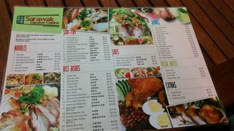 menu picture of sarawak hawker cuisine perth tripadvisor