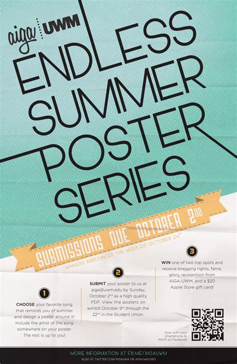 Giveaway Poster - aiga uwm poster series contest on behance