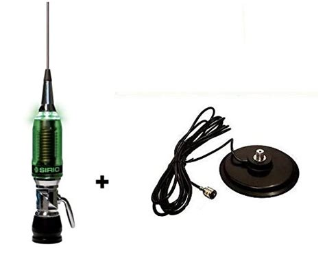 sirio performer 5000 mobile cb antenna with light up led 7