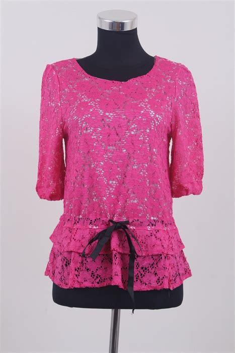 Atasan Wanita Murah Shelomita Pink Murah atasan wanita brokat warna pink model terbaru jual murah import kerja
