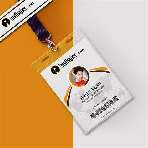 department id card template free indiater modern office identity card psd template indiater