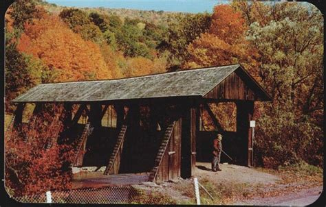Covered Bridge at BloomvilleT - Delaware County NY ...