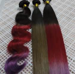 colored hair bundles custom color by casamera ombr 233 one two tone per bundle