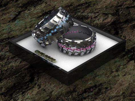 tire tread rings by fast edde s 4x4 jewelry his and hers