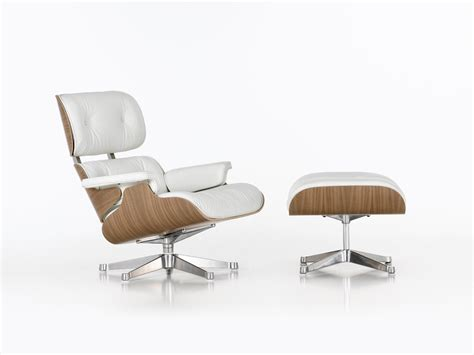 Eames Lounge And Ottoman Buy The Vitra Eames Lounge Chair Ottoman White At Nest Co Uk