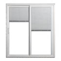 Blinds For Doors With Glass Shop Jeld Wen 71 5 In Blinds Between The Glass Vinyl Sliding Patio Door With Screen At Lowes