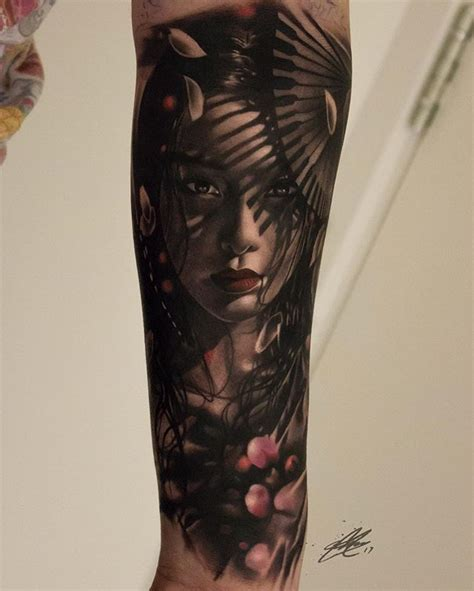 tattoo geisha orientale stunning tattoo pinterest photorealism geisha and