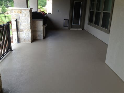 custom painted concrete patio custom color created to match the stucco concrete is now stain