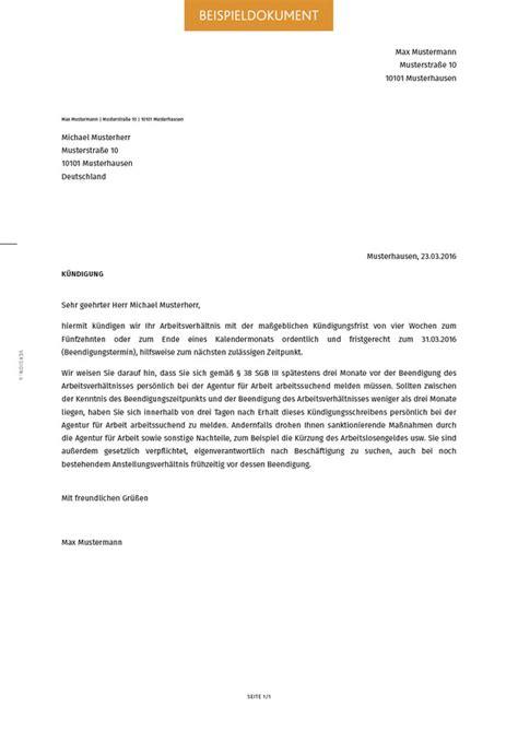 Muster Ordentliche Kündigung Durch Arbeitgeber Ordentliche K 252 Ndigung Erstellen Smartlaw