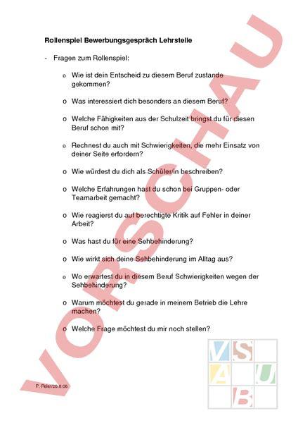 Bewerbungsgesprach Fragen Leitende Funktion Www Unterrichtsmaterial Ch Lebenskunde Berufswahl Rollenspiel Bewerbungsgespr 228 Che