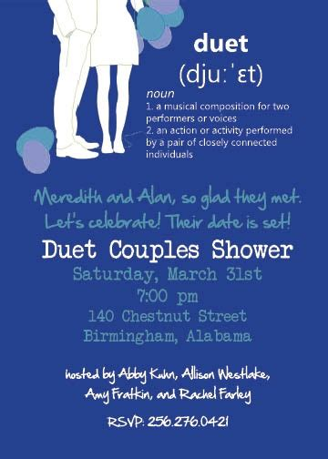 Karaoke Shower by Karaoke Couples Shower Invitation Bridal Shower