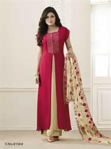 get drashti dhami red georgette dress material from mruga com