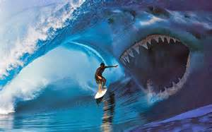 megalodon shark attack caught tape images