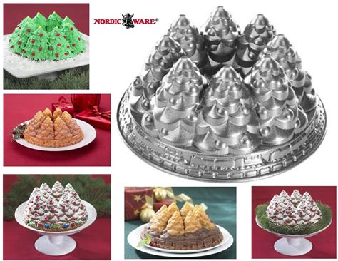 simple recipe for nordic ware christmas holiday tree bundt pan nordicware tree bundt 10 cup snowy pine ring cake new ebay