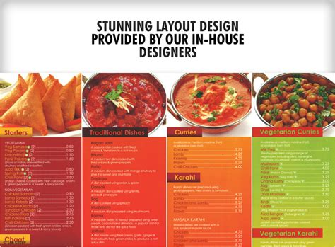 takeaway menu design templates takeaways a3 menus wfold menu printing uk