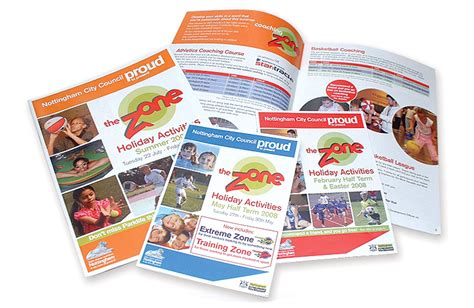 leaflet design nottingham andrew burdett design city council leaflet design and