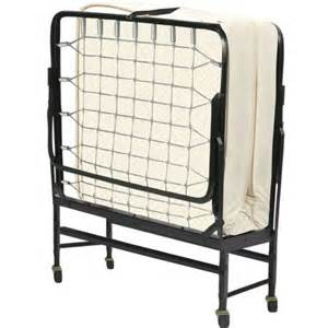 fully assembled portable rollaway folding cot bed with