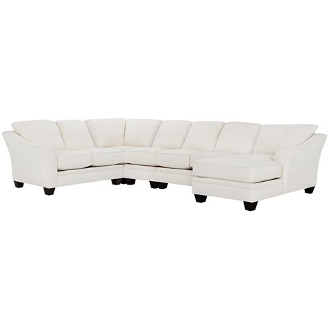 large chaise sectional city furniture avery white fabric large right chaise