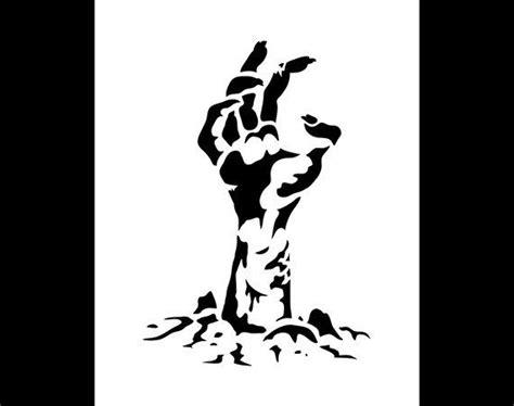 zombie hand halloween art stencil select size  studior