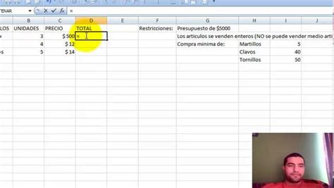 tutorial excel solver tutorial excel solver y matrices on vimeo