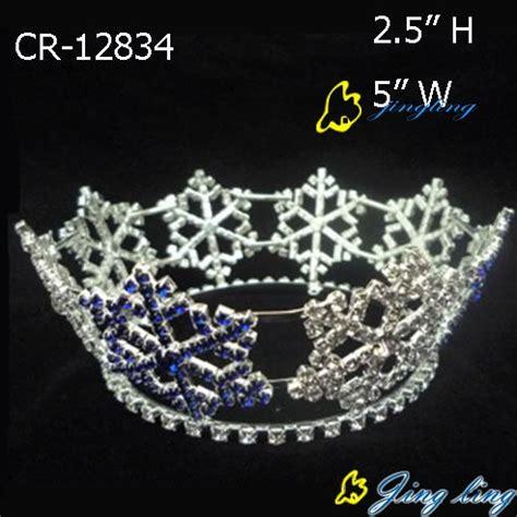 full round king snowflake tiara for christmas pageant