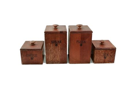 vintage wooden set kitchen canisters quicksales com au kitchen canister set vintage wood canisters 1960s mid