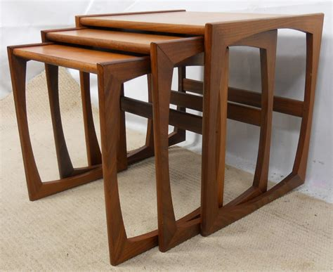 Sold Teak Retro Nest Of Three 1960 S Coffee Tables Coffee Nest Of Tables