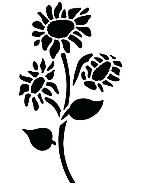 and stencils printable sunflower stencil printable