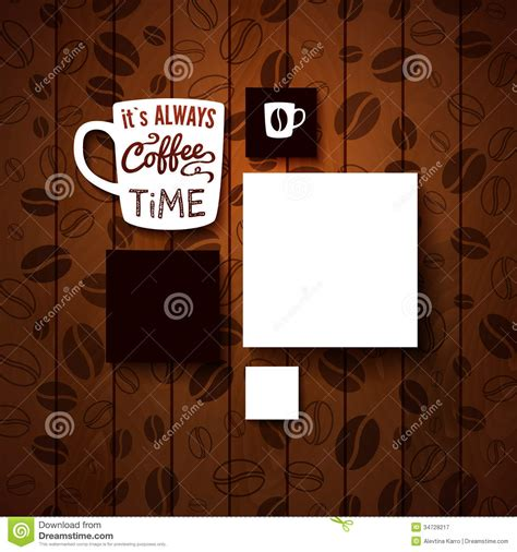 coffee shop background pattern royalty free vector image design template for your coffee shop stock illustration