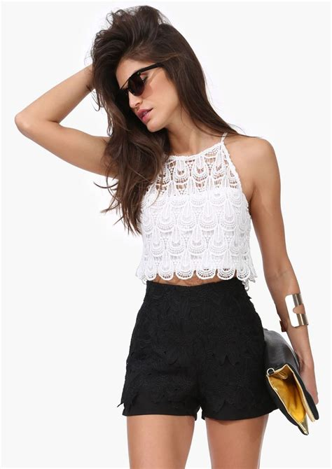 crop top and shorts 1000 ideas about high waist on