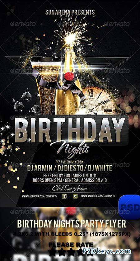 birthday nights party flyer 6217618 187 free download