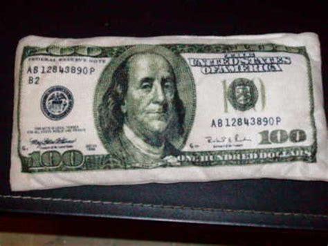 free 100 dollar bill mini pillow cool item coins