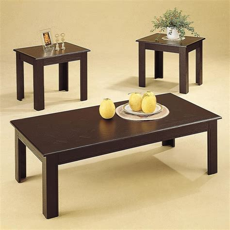 Acosta Black Wood Coffee Table Set Steal A Sofa Wood Coffee Table Set