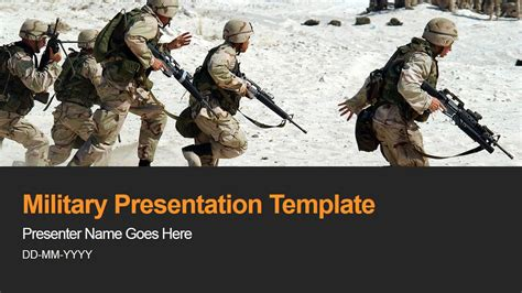 military powerpoint template slidemodel