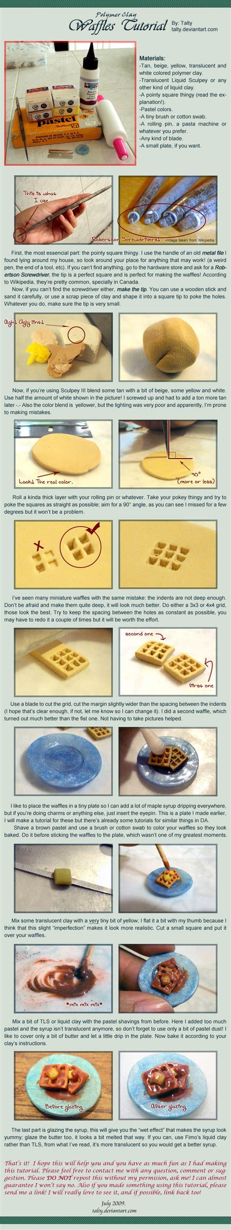 Tutorial Waffle | polymer clay waffles tutorial by talty on deviantart