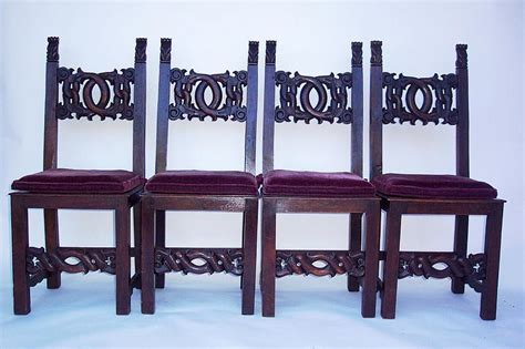 19th century dining room chairs with cushions for