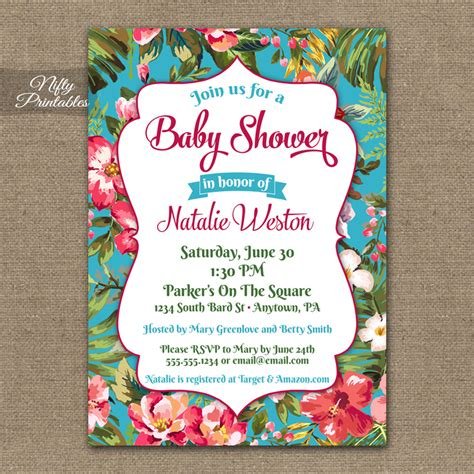 free printable hawaiian luau invitations tropical hawaiian baby shower invitations luau nifty