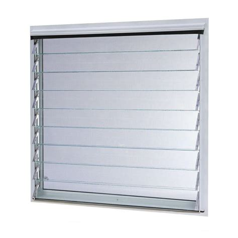 jalousie metall tafco windows 36 in x 34 87 in jalousie utility louver