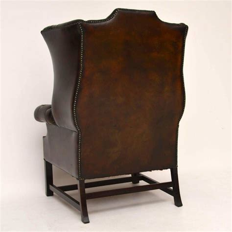 antique armchairs for sale antique deep buttoned leather wing back armchair for sale